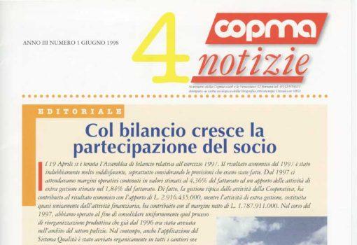 Giugno 1998 – Col bilancio cresce la partecipazione del socio