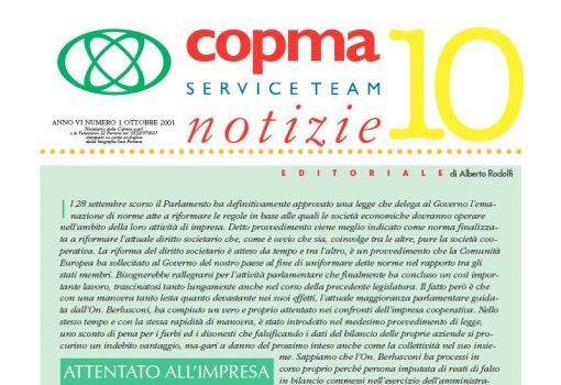 Ottobre 2001 – Attentato all'impresa cooperativa