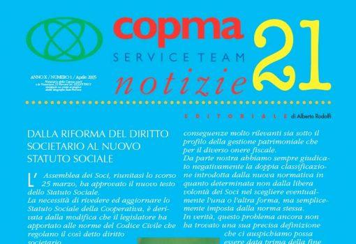 Aprile 2005 – Dalla riforma del diritto societario al nuovo statuto sociale