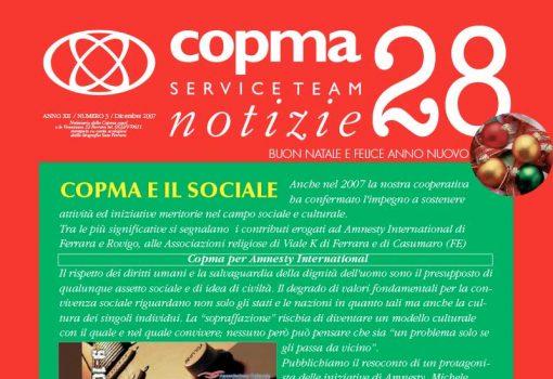 Dicembre 2007 – Copma e il sociale